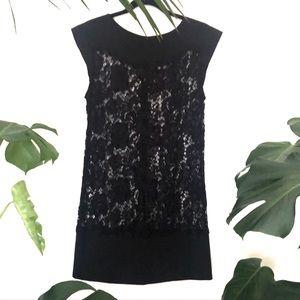 Pilgrim Sz 12 Lace Mini Dress Black Short Sleeve Classic Party